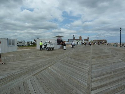 The broadwalk at Asbury Park