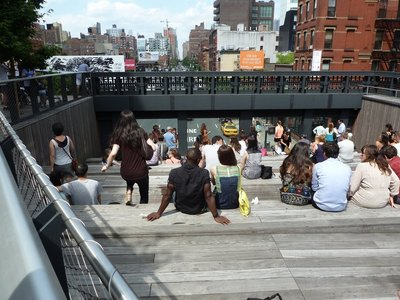 The High Line's urban theatre at 10th Avenue Square