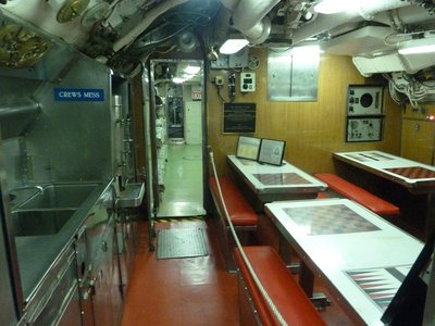 The Crew's Mess aboard the USS Becuna