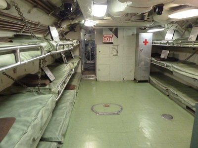 The Crew's Quarters aboard the USS Becuna