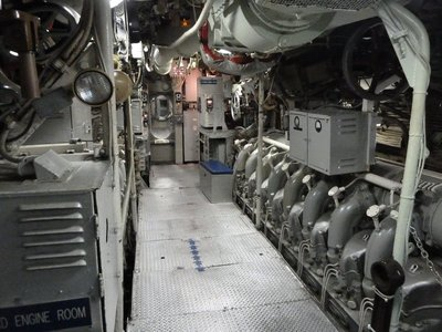 The Engine Room aboard the USS Becuna