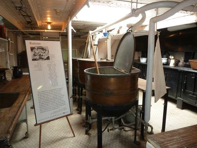 The galley aboard the USS Olympia where they did all the cooking