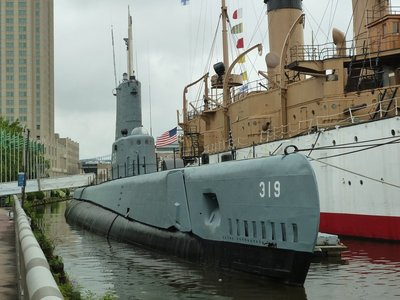The USS Becuna at the Independence Seaport Museum