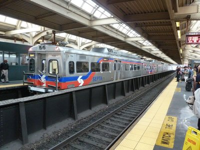 SEPTA Train in Philadelphia's 30th Street Station