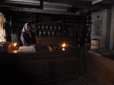 Inside the 1840s style shop in Skansen's town quarter