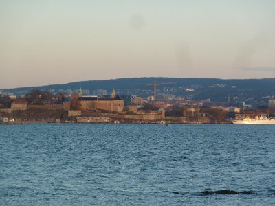 View of Akershus Festning (Oslo Castle and Fortress) from the Bygdoy peninsular