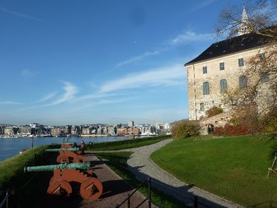 Canon on the battlements of Akerhus Festning