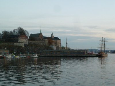 One last photograph of Akershus Festning beside Oslofjord as it gets dark, tomorrow its my epic trip to Bergen!