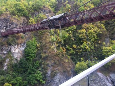 The historic AJ Hackett Bungy Bridge over the Kawarau River