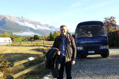 Me at Glenorchy about to set off for Paradise