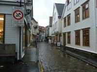 Typical cobbled street near Bergen Railway Station
