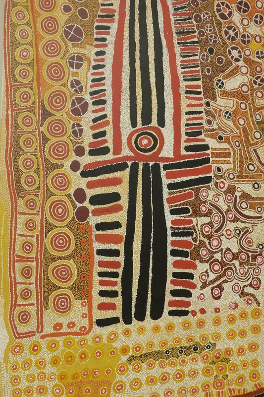 Canberra National Gallery - Kunstwerken v. d. Aborigines