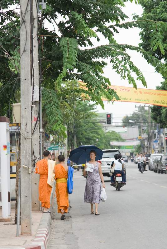 Monks on a stroll