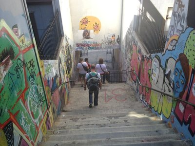 one of the crazy stairs