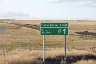 'En route' Goose Green