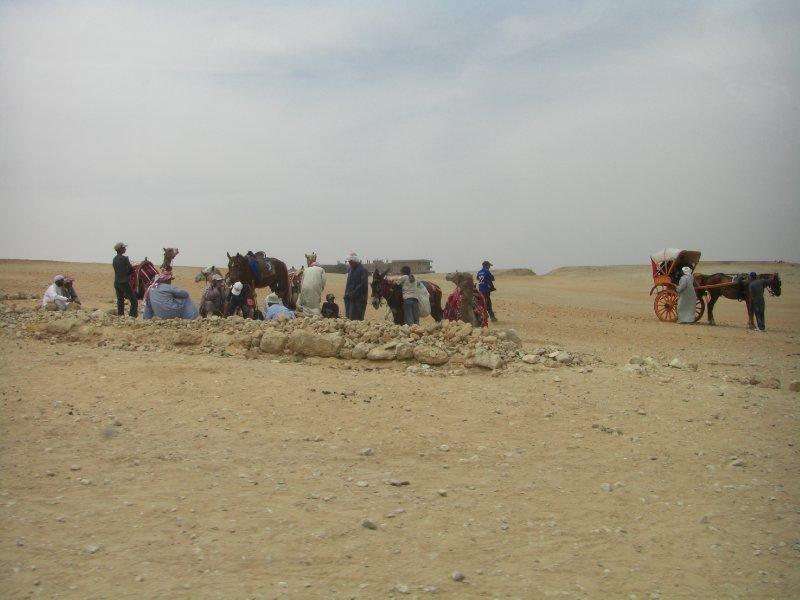 Vendors at Giza