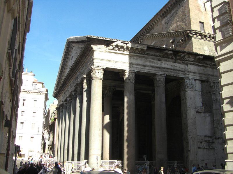 First glimpse of the Pantheon