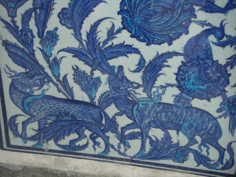 An example of the intricate tilework from the Iznik region