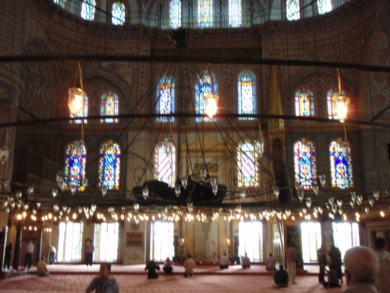Inside the Blue Mosque of Sultan Ahmed