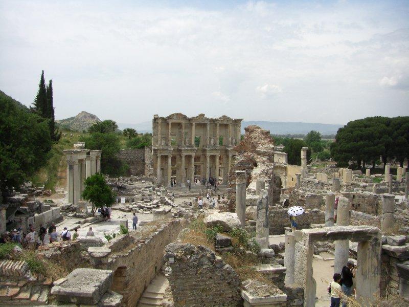 Overlooking the center of Ephesus