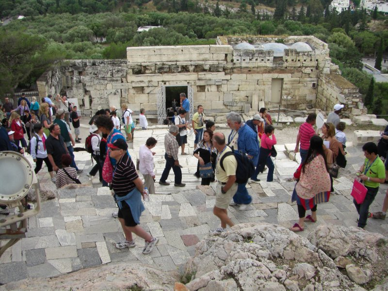 The climb to the Acropolis