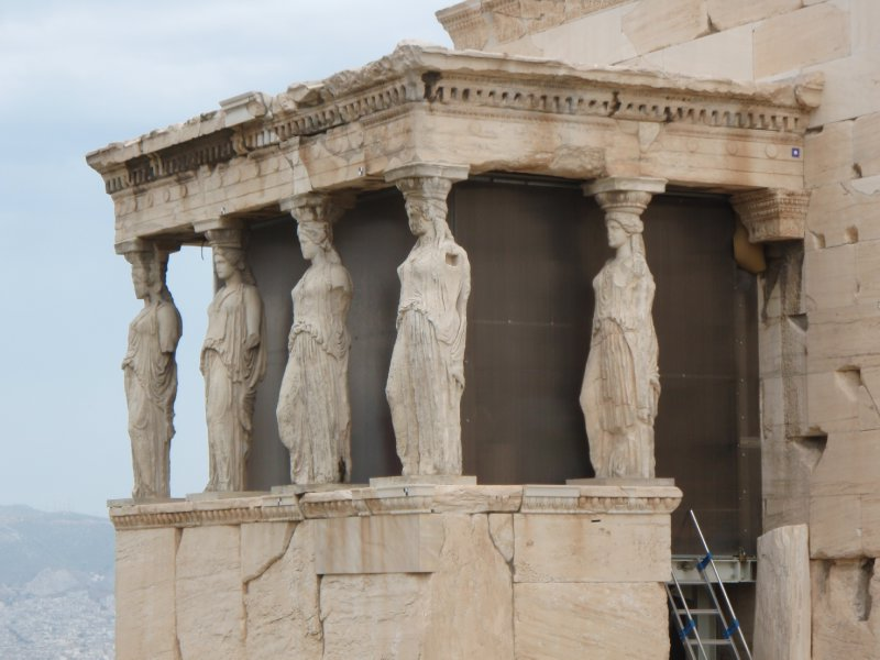 Porch of the Caryatids, south side of the Erechthion