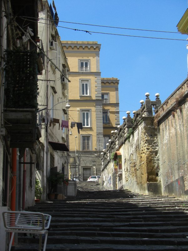 A side street of stairs