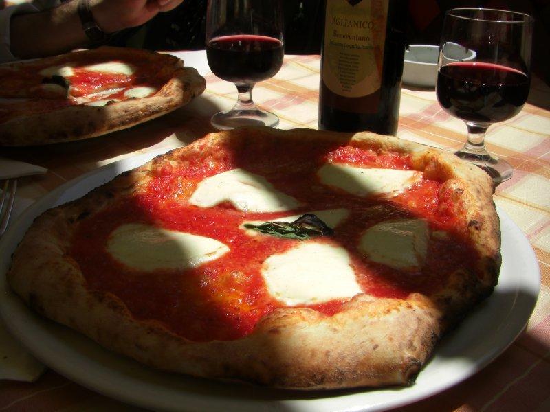 Pizza at Antico Borgo