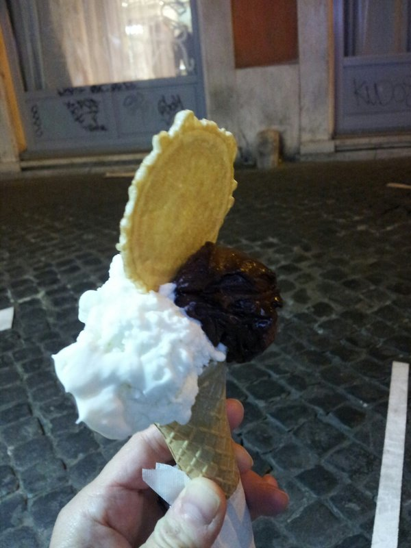 Coconut and Grand Marnier Chocolate Cone from Punto Gelato, Rome