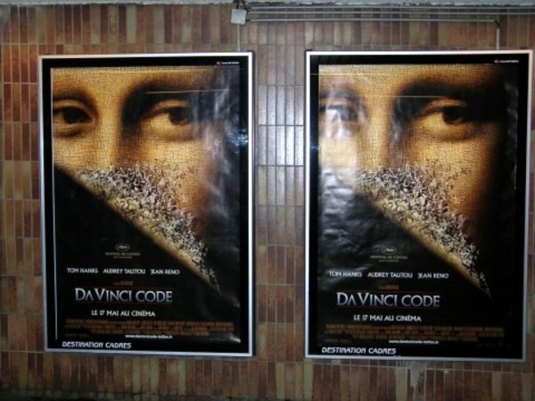 Da Vinci Code Poster in Paris Metro Station