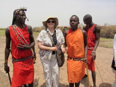 03012012 3 Susie with young Masai men
