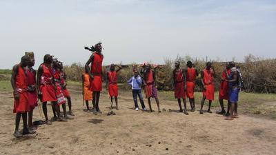 03012012 5 Masai men dancing