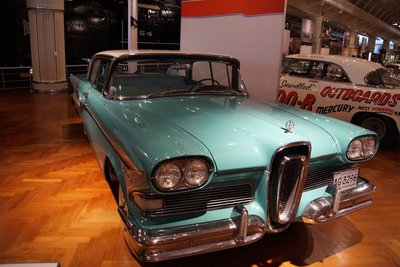 1957 Ford Edsel -a flop -some said it looked like a Buick sucking a lemon