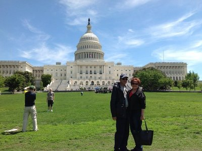 Julie and Philip (and us) at The Capitol Building