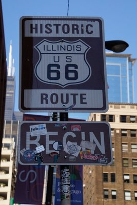 The start of Route 66 -Chicago to Los Angeles