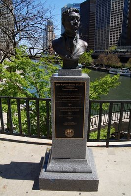 Jean-Pierre Baptiste DuSable -founder of Chicago-Carribean African who set up a trading post on the Chicago River