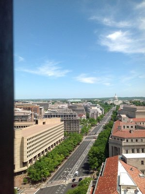 J Edgar Hoover Building FBI HQ-view from Clock Tower of Old Post Office