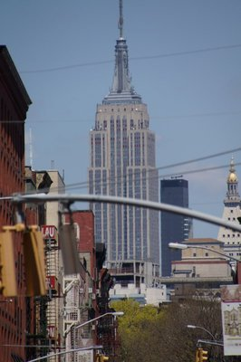 Empire State Building seen from Chinatown