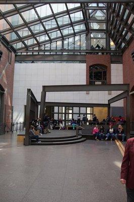 National Holocaust Memorial view of lobby - no photographs allowed