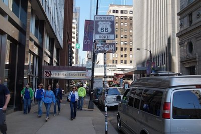 Dearborn Street, Chicago, the start of the famed Route 66