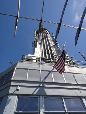 View from The Empire State Building - docking Tower on top of The Empire State Building