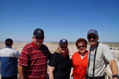 Badlands National Park - David, Colleen, Julie and Philip