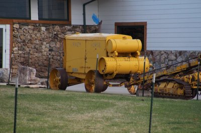 Buda Compressor used in early days at Crazy Horse Monument. Korczak had to walk up and down 700 steps to re-start the compressor, nine times one day.