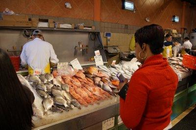 Chinese supermarket fresh fish