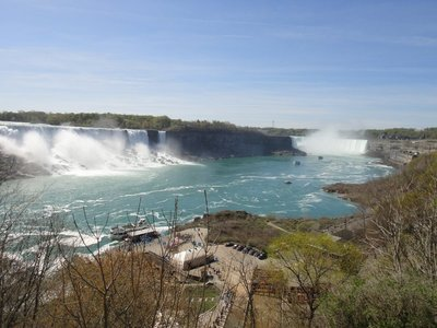 American and Horseshoe Falls in Canada side