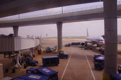 Dallas Fort Worth Airport - 4 terminals with a monorail and a cut lunch needed to get from one to the other