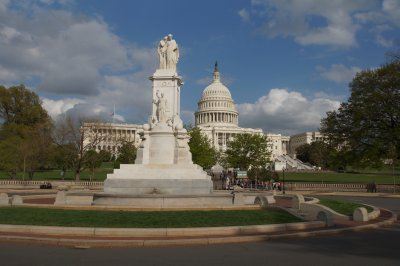 Peace Memorial with Capitol Building in the background