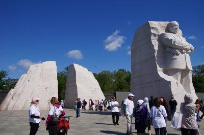 Dr Martin Luther King Jr Memorial with massive blocks of granite