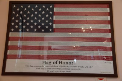 Flag of honour at St Paul's Church