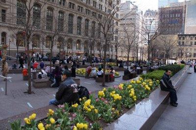 Garden area on Broadway